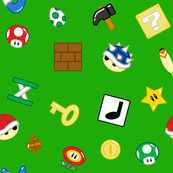 Gaming Items in Green