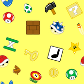 Gaming Items in Yellow