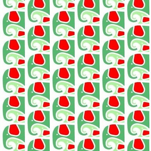 Elephant Baby Love Red Moss Green
