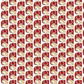 SMALL Elephant Love BurgundyTan