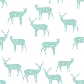 Geo Deer  - Mint (Deer Quilt Coordinate) by Andrea Lauren
