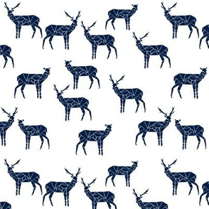 Geo Deer - Navy (Deer Quilt Coordinate) by Andrea Lauren