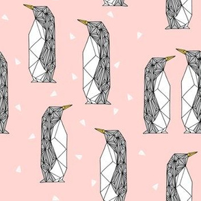 Geo Penguin - Rose Pink by Andrea Lauren