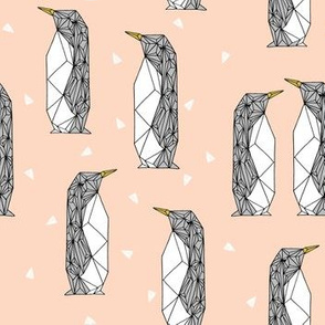 Geo Penguin  - Blush by Andrea Lauren