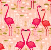 Flamingo - Pastel Pink (Small) by Andrea Lauren