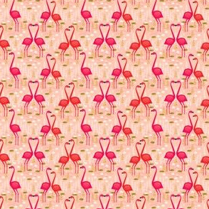 Flamingo - Pastel Pink (Small) by Andrea Lauren
