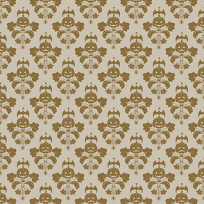 Jack-O-Lantern Damask Beige/Brown