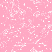 constellations // pink girls cute dreams sky nursery baby cute animals