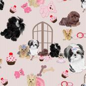 Yorkie, Shih tzu Window Seat Buddy Fabric