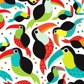 brazil tucan illustration bird tropical summer kids pattern