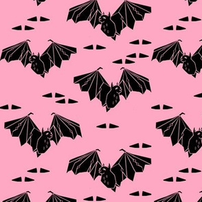 bat // halloween pastel pink bubblegum pink haunted spooky scary