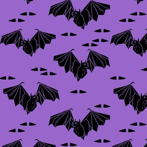 bat // halloween bat purple spooky scary
