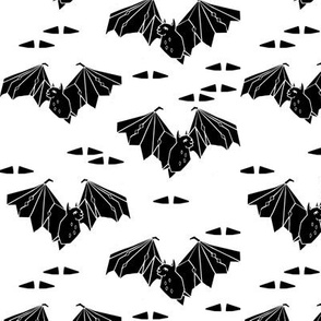 Geo Bat - white and black by Andrea Lauren