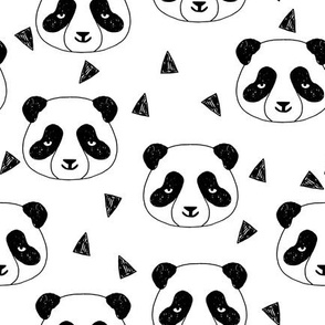 Hello Panda - Black and White by Andrea Lauren