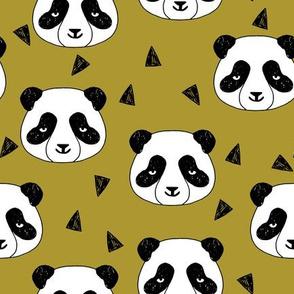 Hello Panda - Golden Olive by Andrea Lauren