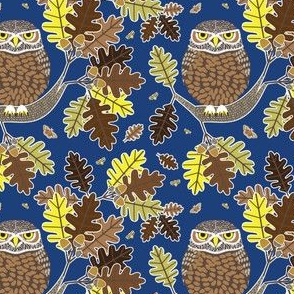 Owl and Oak dark blue