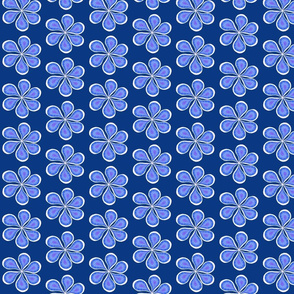 Groovy Navy Flower Power Smaller Print