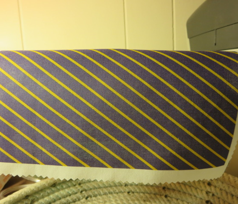 Navy and Gold Diagonal Stripes