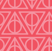 Pastel Potter - Red Deathly Hallows