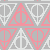 Pastel Potter - Red/Gray Deathly Hallows