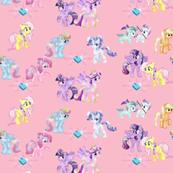 Crystal Ponies in Pink
