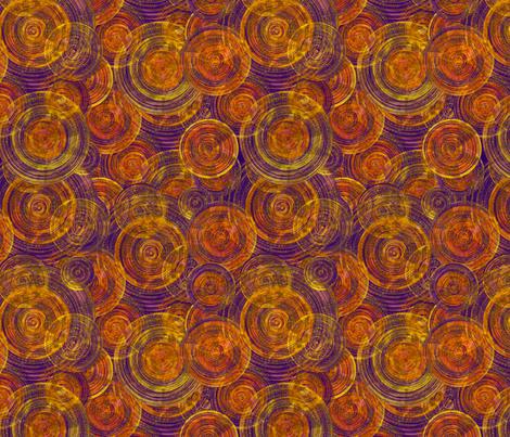 Gold Disks on Purple