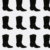 Boots (black/white)