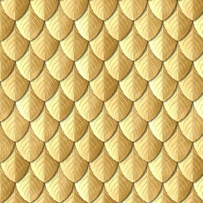 Feather Leaf Scales Armor Gold