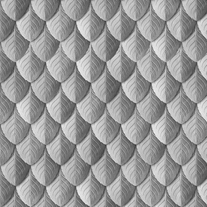 Feather Leaf Scales Armor Silver