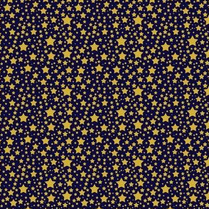 Ditsy Gold Stars on a Navy Background