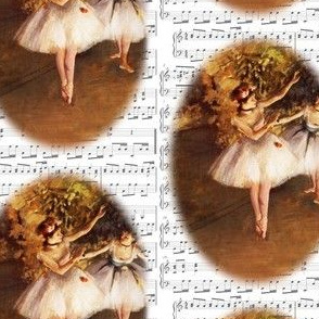 Danita's Degas Dancer and Sheet Music