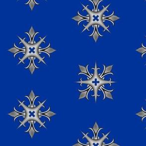 Medieval Cross Blue