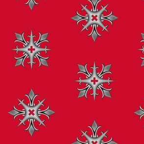 Medieval Cross Red