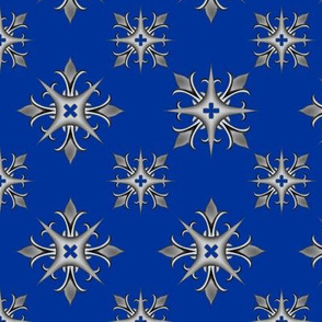 Medieval Cross V2 Blue