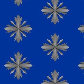 Medieval Iron Crosses Blue