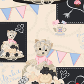 Yorkie Tea Party - Matching 2