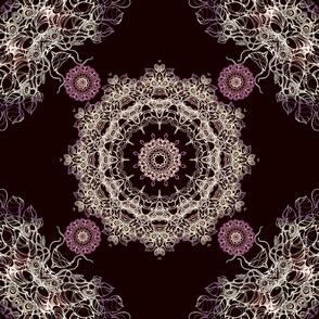 elegant brown mandala kaleidoscope