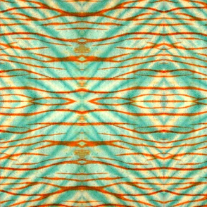 Shibori   Kairyo  Cyan  Orange