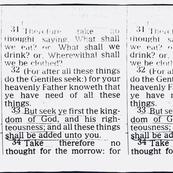 Mattherw 6:31-33