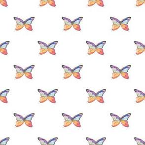 Petite Watercolor Butterflies