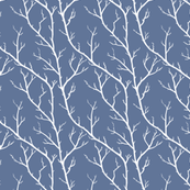 Spring Branches in Lighthouse Blue