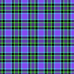 Punky Plaid 173 Violet Green Turquoise
