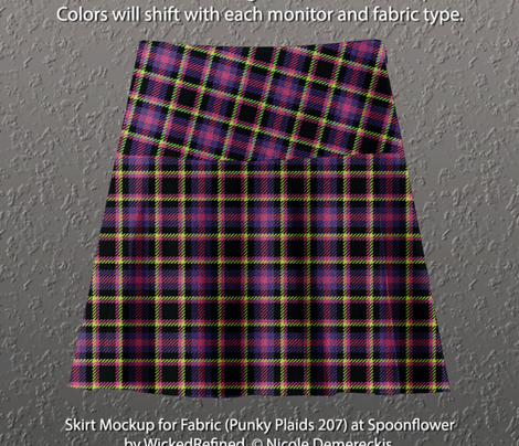 Punky Plaid 207 Violet Pink Green
