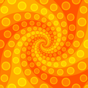 tentacle sucker spiral 3 : golden orange