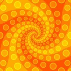 tentacle sucker spiral 3 : sunshine orange