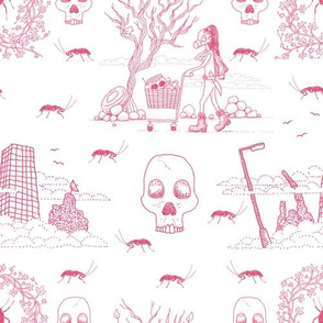 I'm a Survivor (lovely pink toile)