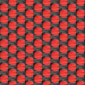 Woven Red Dots Medium