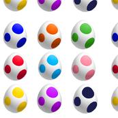 Colorful Yoshi Eggs