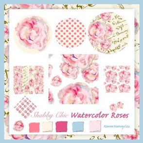 Shabby_Chic_Watercolor_roses_fabric_collection_blue_border