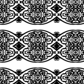 Abstract black and white design #6
